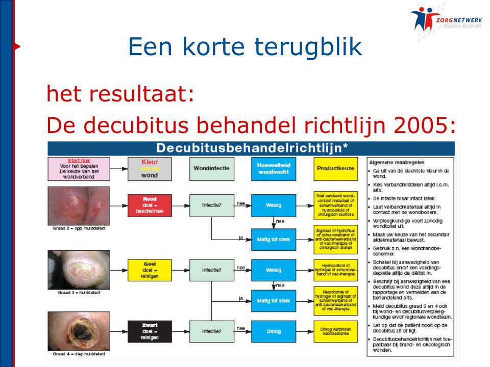 het resultaat: De decubitus behandel richtlijn 2005: