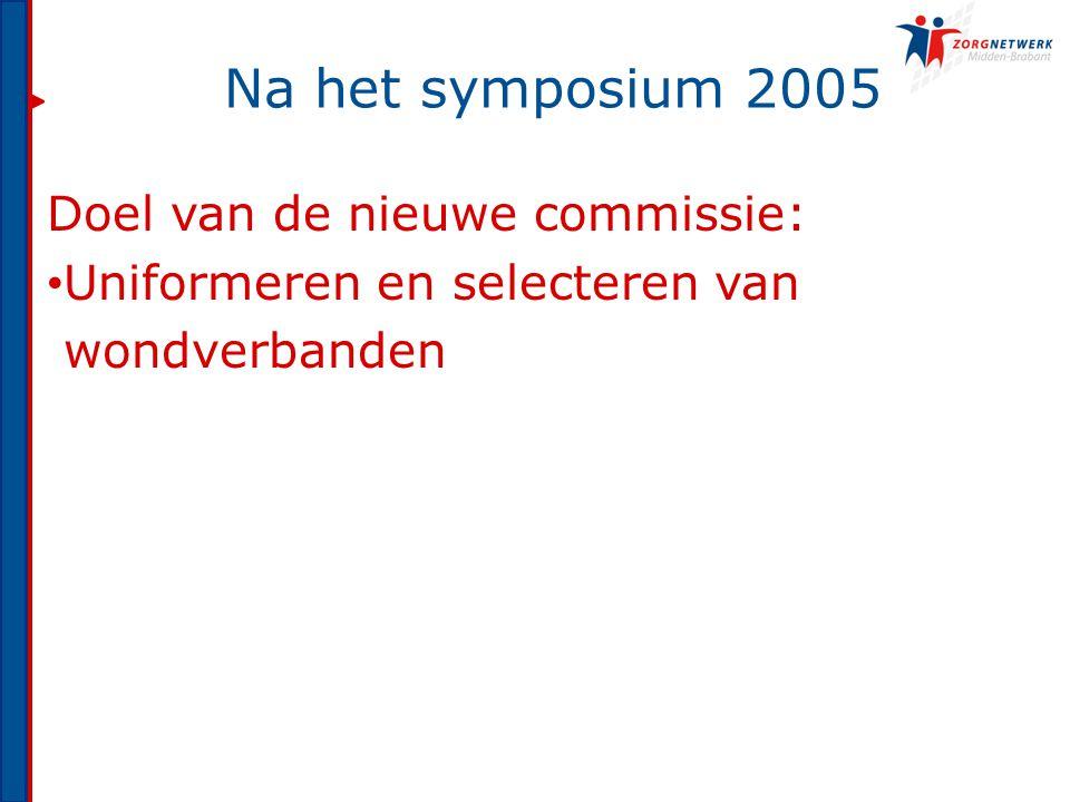 Na het symposium 2005 Doel van de nieuwe commissie: