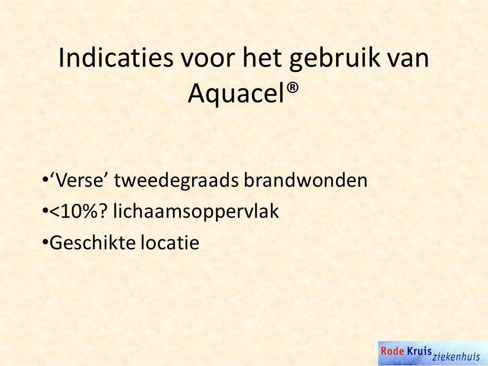 Indicaties voor het gebruik van Aquacel®