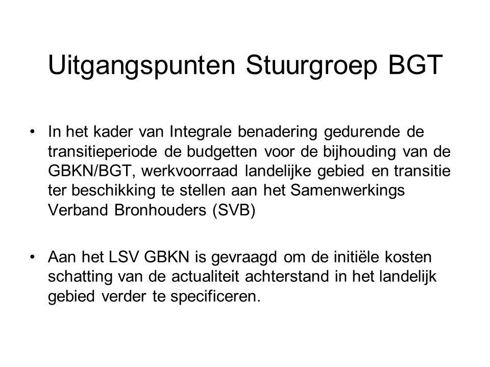 Uitgangspunten Stuurgroep BGT