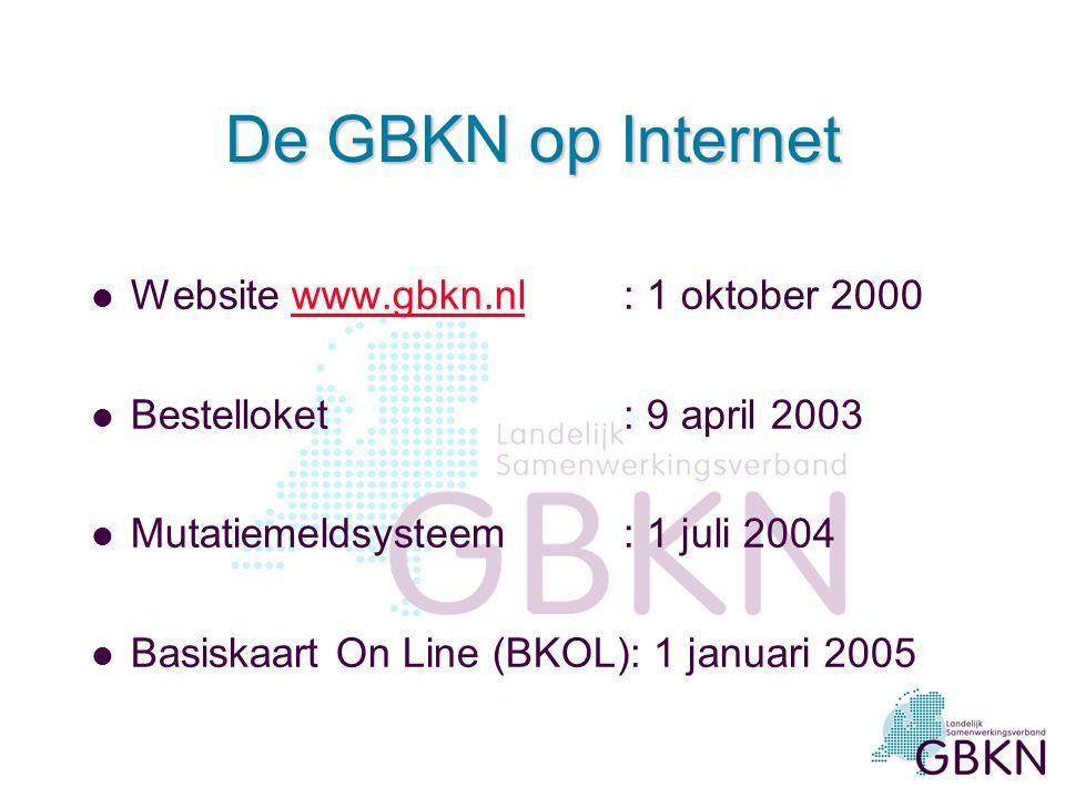 De GBKN op Internet Website www.gbkn.nl : 1 oktober 2000