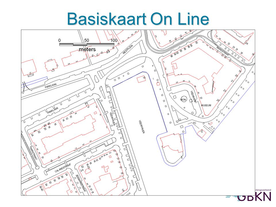 Basiskaart On Line Afbeelding 1: Basiskaart On Line in MapInfo 7.5 (LSV-GBKN)