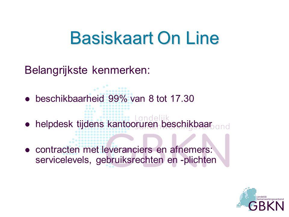 Basiskaart On Line Belangrijkste kenmerken: