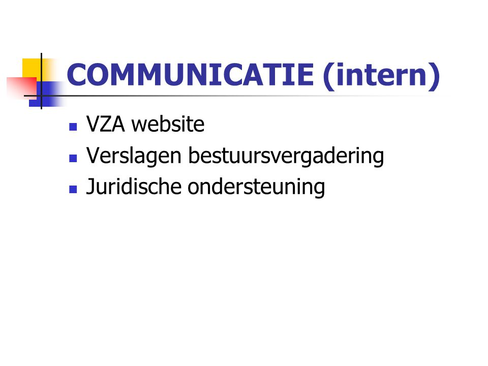 COMMUNICATIE (intern)