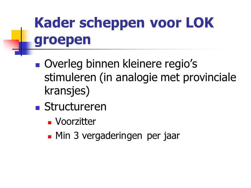 Kader scheppen voor LOK groepen