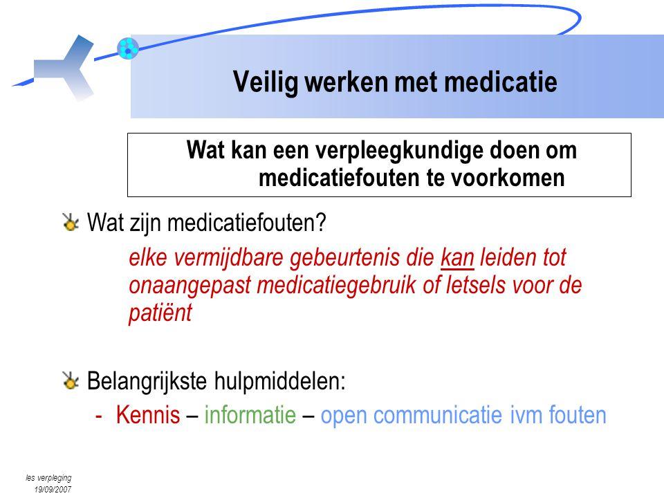 Veilig werken met medicatie