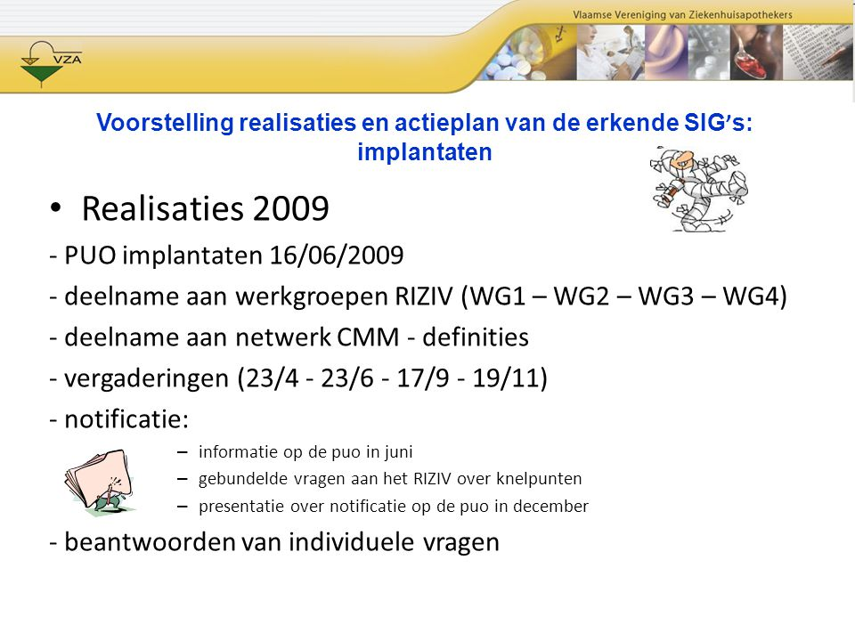 Realisaties 2009 - PUO implantaten 16/06/2009