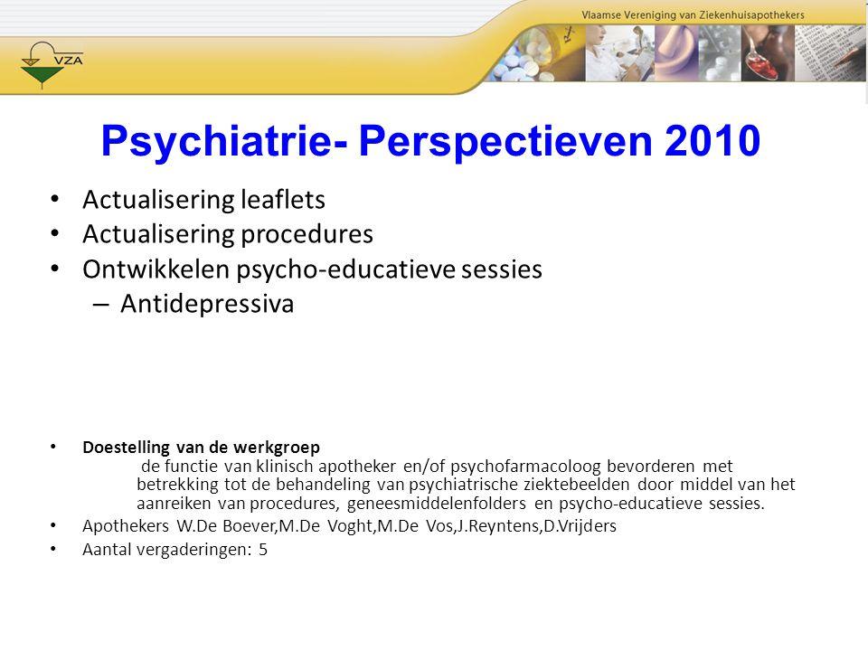 Psychiatrie- Perspectieven 2010