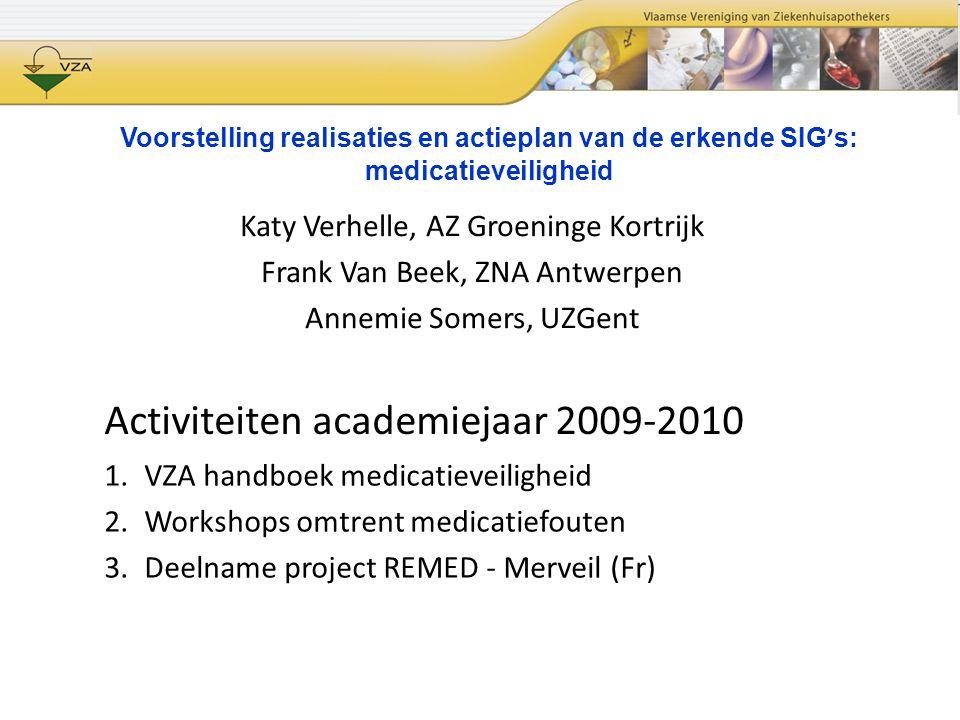 Activiteiten academiejaar 2009-2010