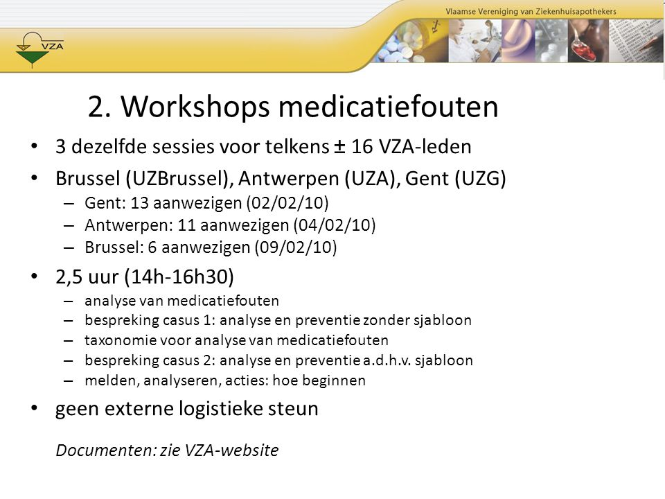 2. Workshops medicatiefouten