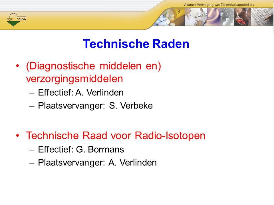 Technische Raden (Diagnostische middelen en) verzorgingsmiddelen