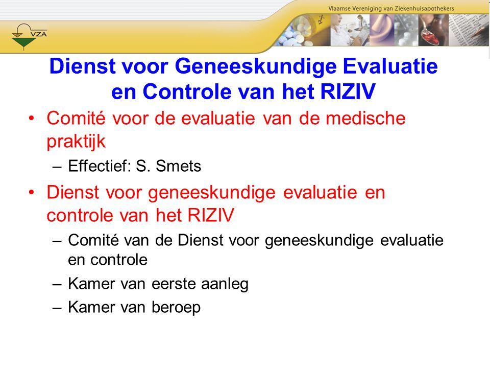 Dienst voor Geneeskundige Evaluatie en Controle van het RIZIV