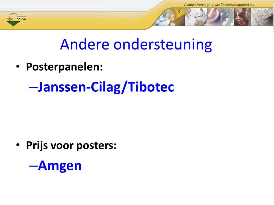 Andere ondersteuning Janssen-Cilag/Tibotec Amgen Posterpanelen: