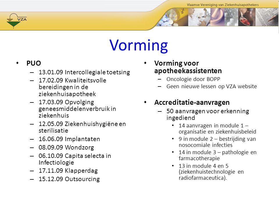 Vorming PUO Vorming voor apotheekassistenten Accreditatie-aanvragen
