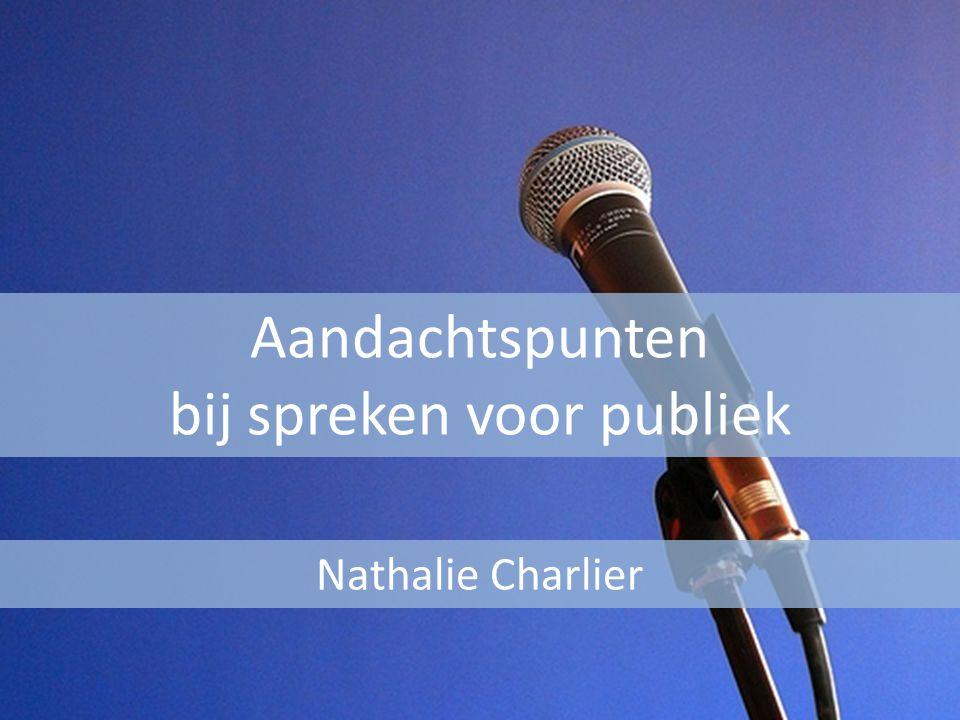 Aandachtspunten bij spreken voor publiek