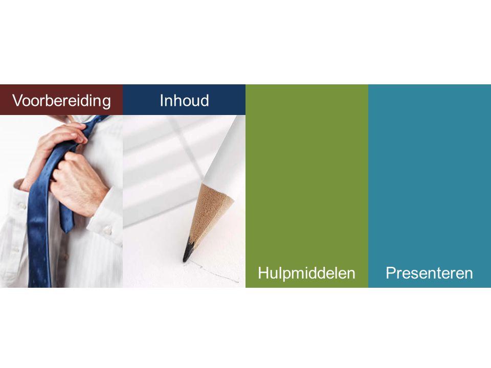 Voorbereiding Inhoud Inhoud Hulpmiddelen Presenteren