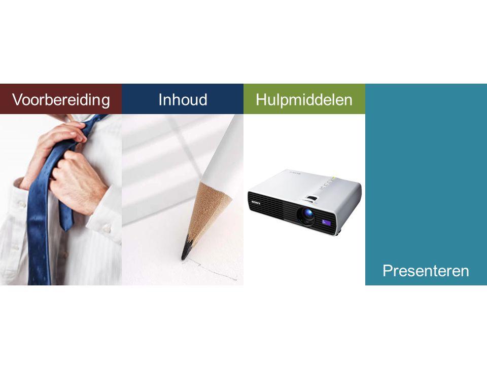 Voorbereiding Inhoud Hulpmiddelen Inhoud Hulpmiddelen Presenteren