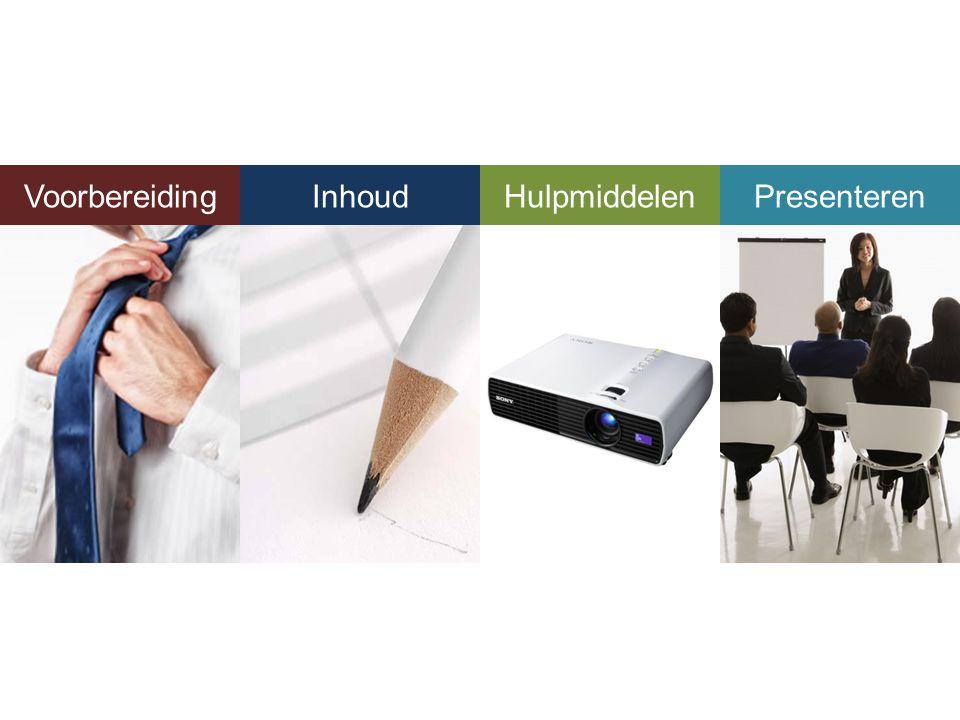 Voorbereiding Inhoud Hulpmiddelen Presenteren Presenteren