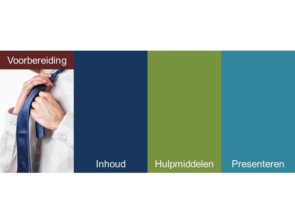 Voorbereiding Voorbereiding Inhoud Hulpmiddelen Presenteren