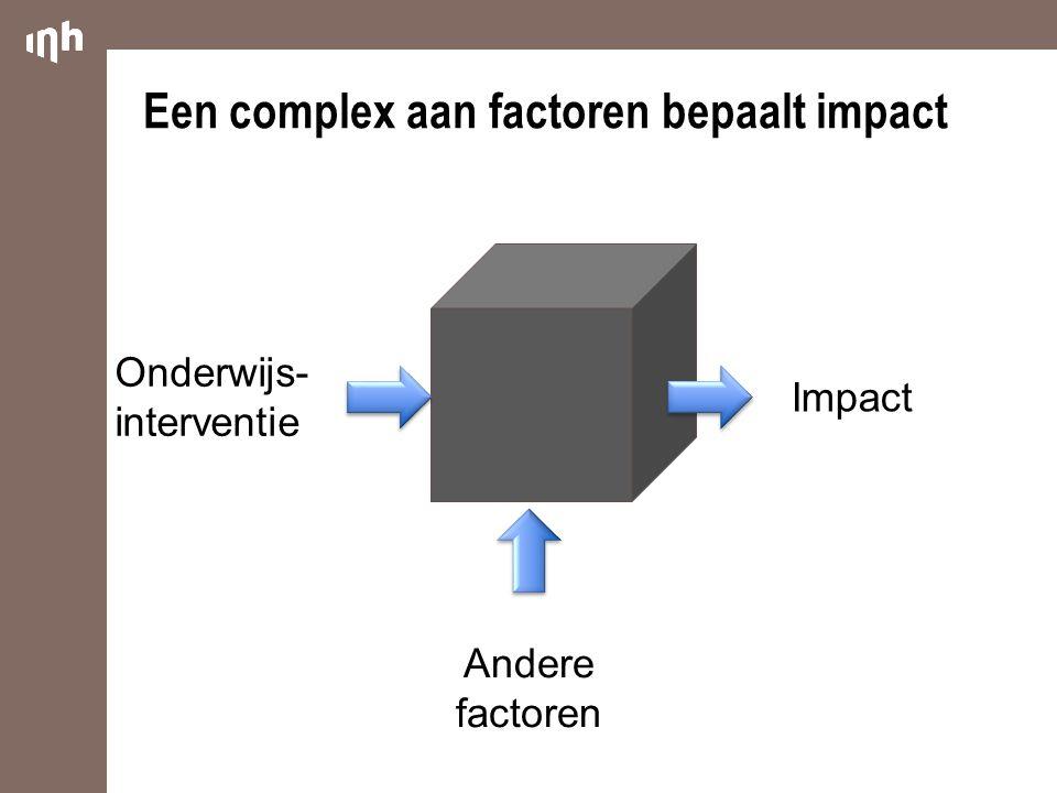 Een complex aan factoren bepaalt impact