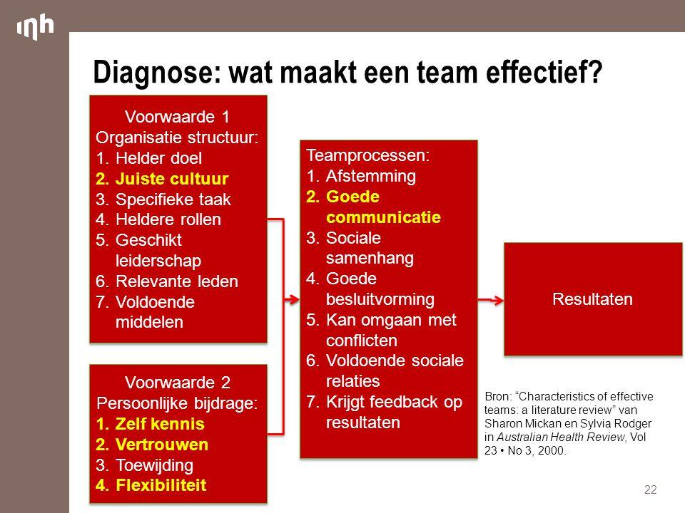 Diagnose: wat maakt een team effectief
