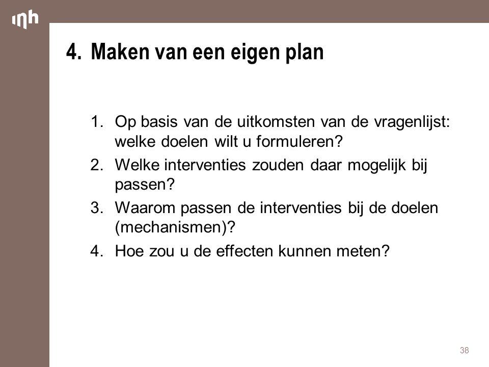 4. Maken van een eigen plan
