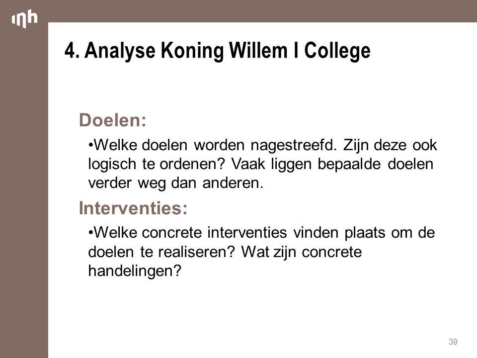 4. Analyse Koning Willem I College