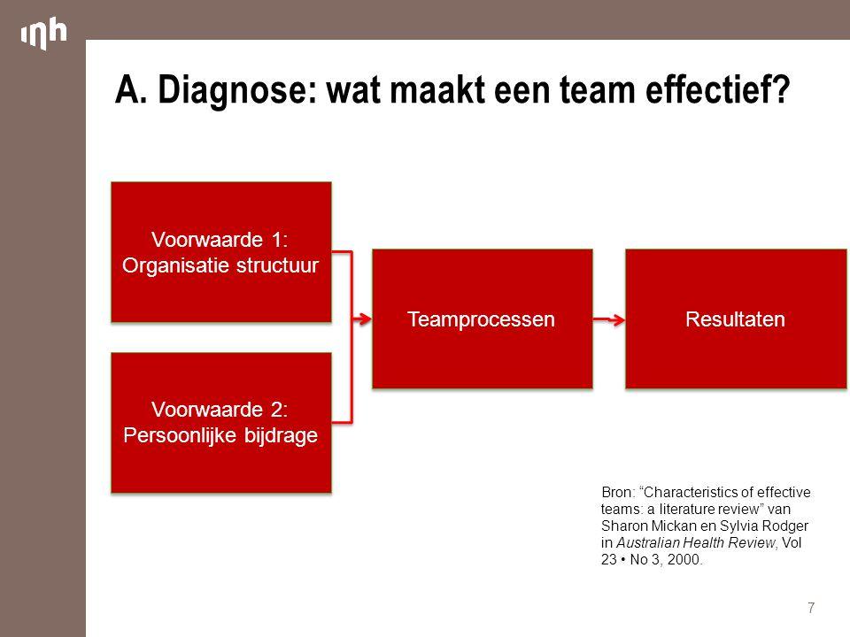 A. Diagnose: wat maakt een team effectief