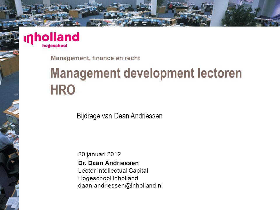 Management development lectoren HRO
