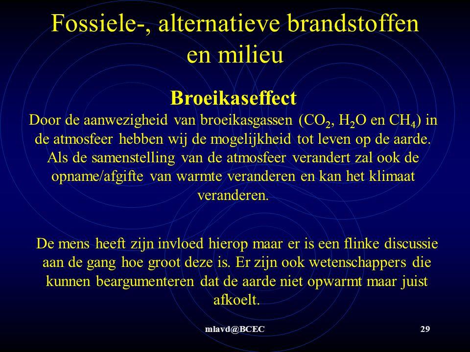 Fossiele-, alternatieve brandstoffen en milieu