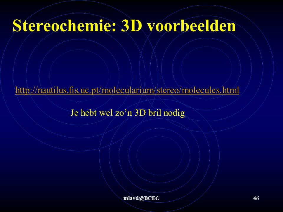 Stereochemie: 3D voorbeelden