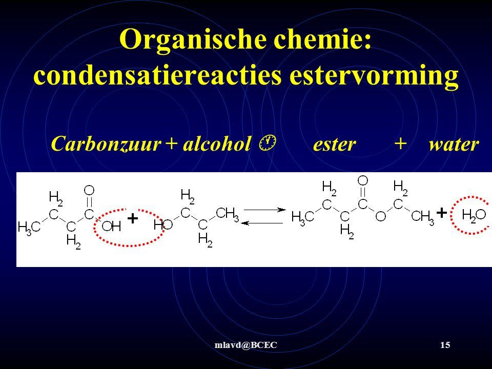 Organische chemie: condensatiereacties estervorming