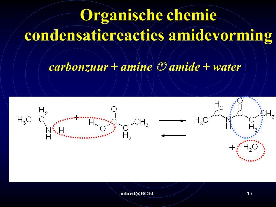 Organische chemie condensatiereacties amidevorming