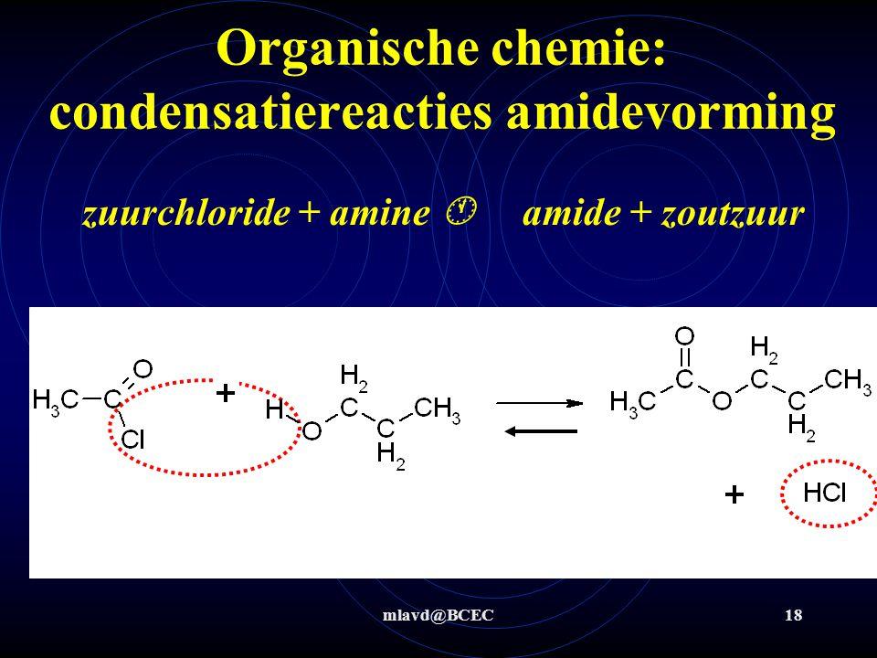 Organische chemie: condensatiereacties amidevorming
