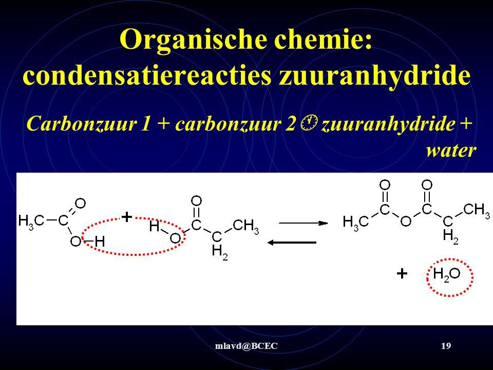 Organische chemie: condensatiereacties zuuranhydride