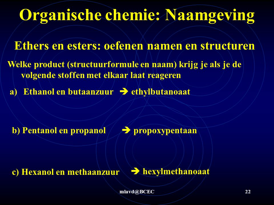 Organische chemie: Naamgeving
