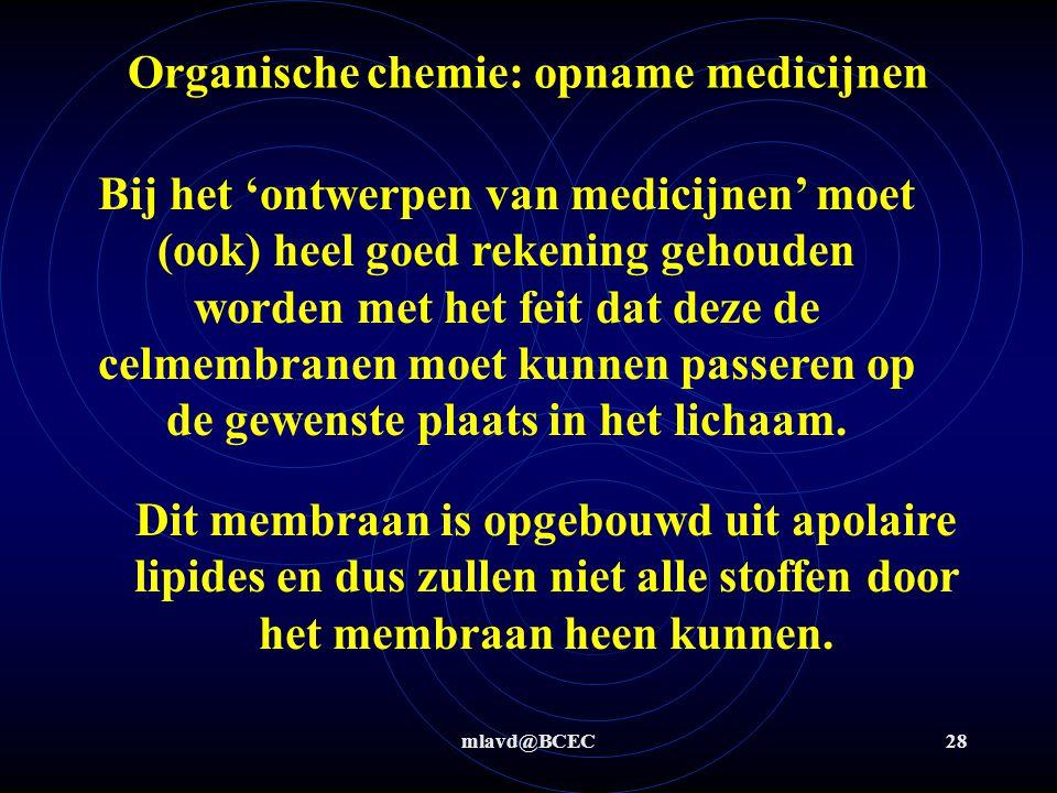 Organische chemie: opname medicijnen