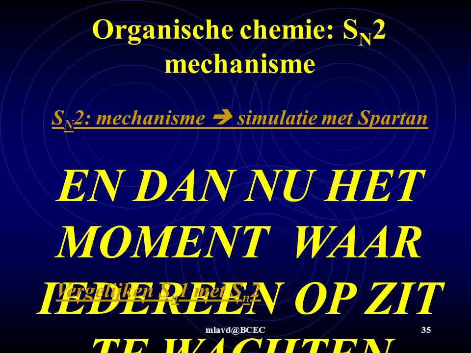 Organische chemie: SN2 mechanisme