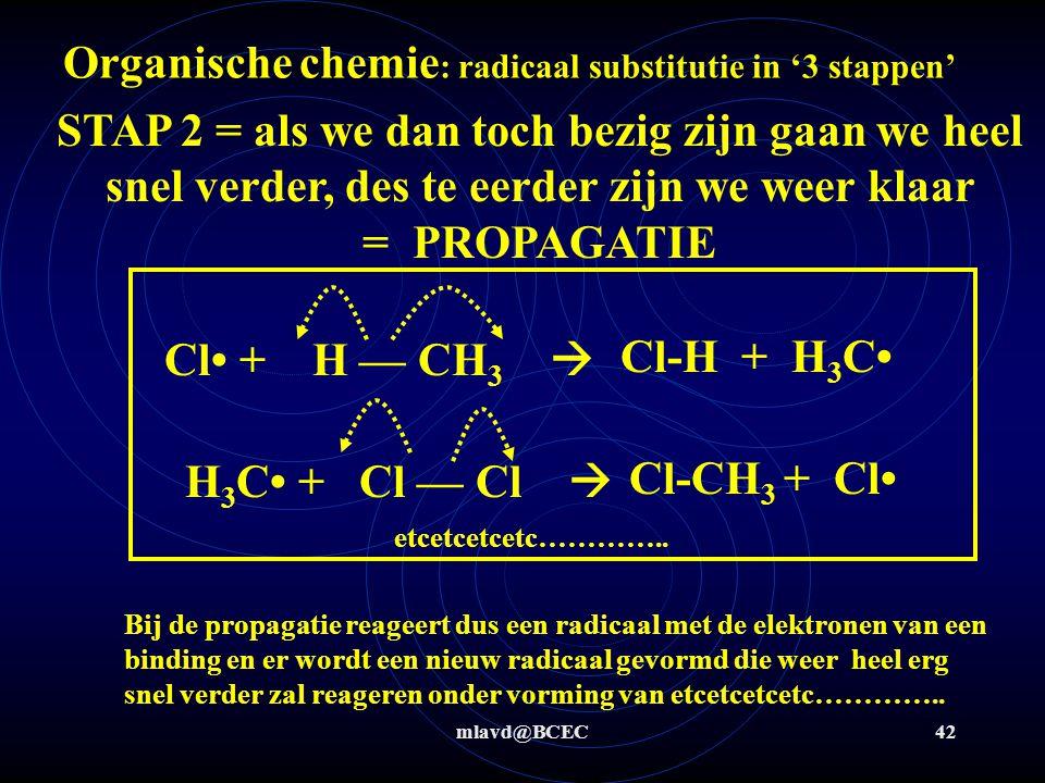 Organische chemie: radicaal substitutie in '3 stappen'