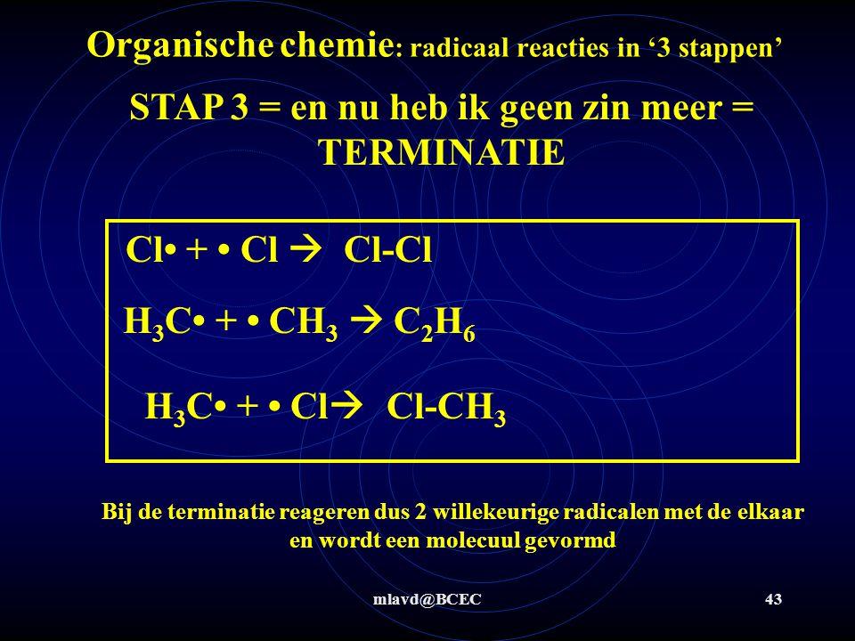 Organische chemie: radicaal reacties in '3 stappen'