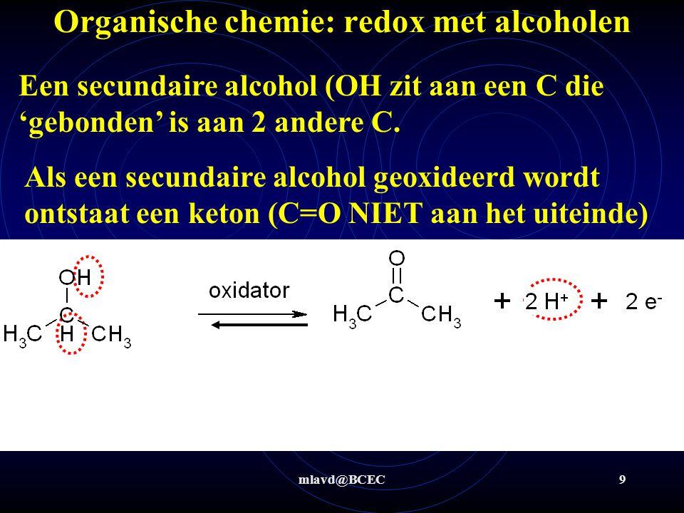 Organische chemie: redox met alcoholen