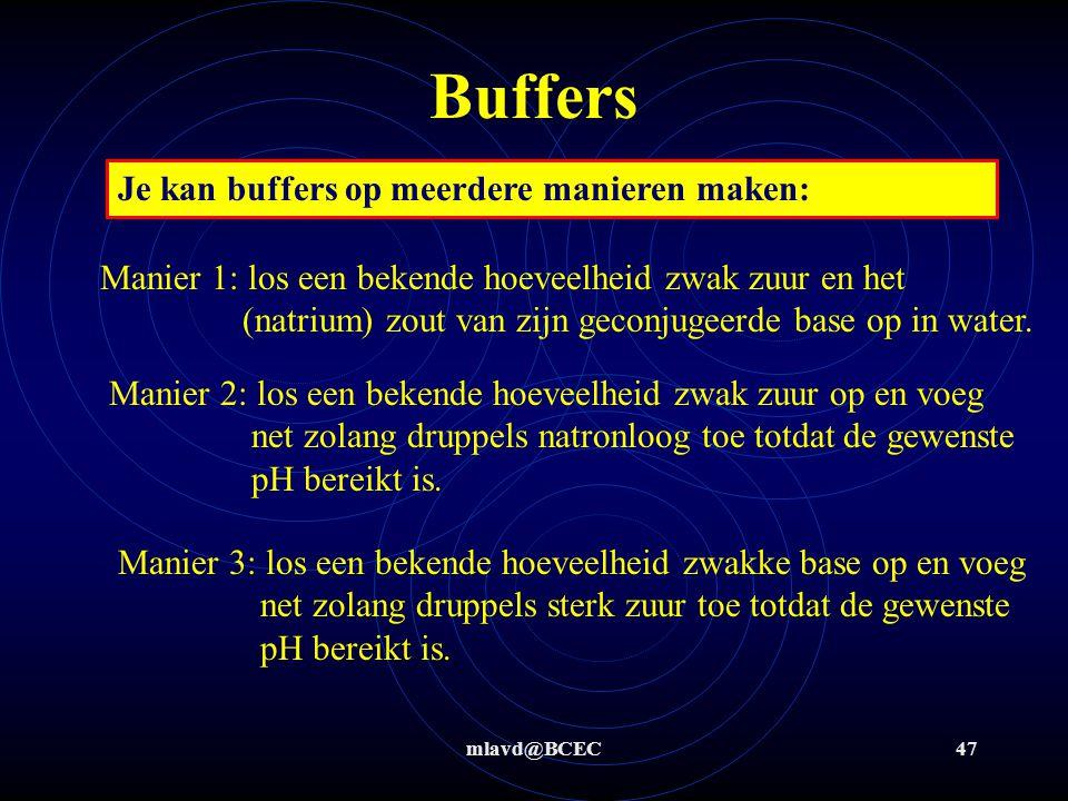 Buffers Je kan buffers op meerdere manieren maken: