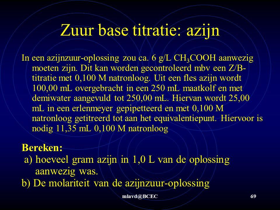 Zuur base titratie: azijn