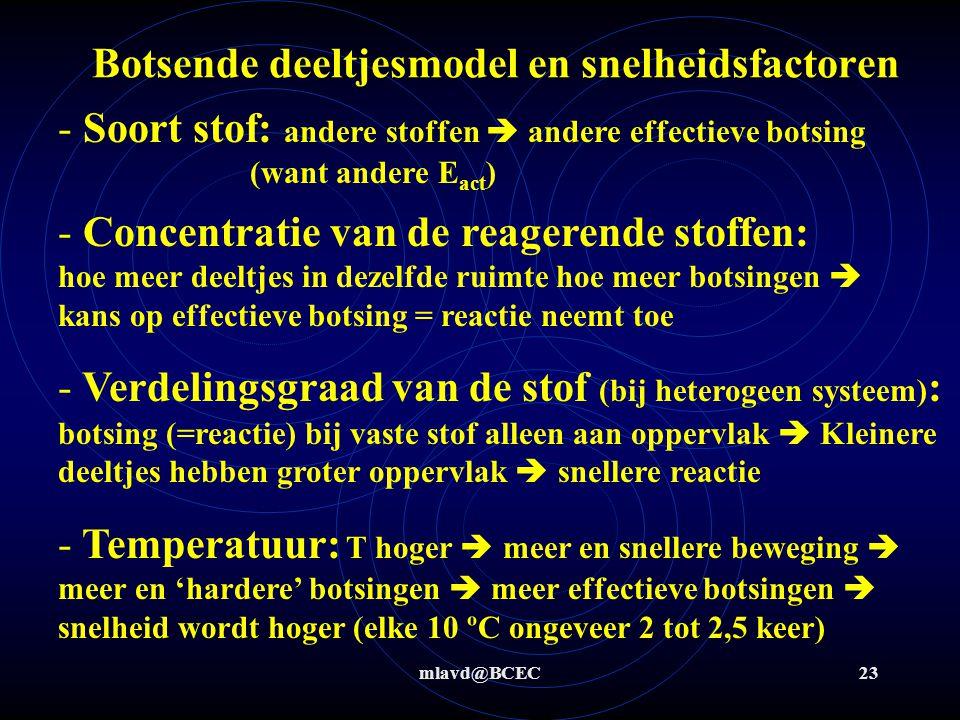Botsende deeltjesmodel en snelheidsfactoren