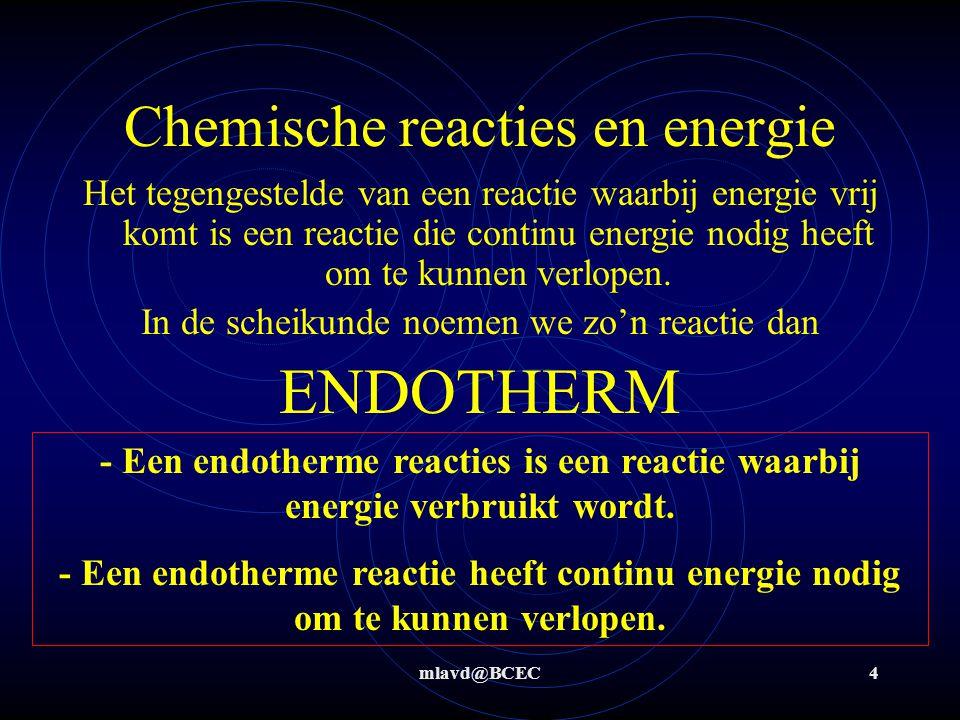 Chemische reacties en energie