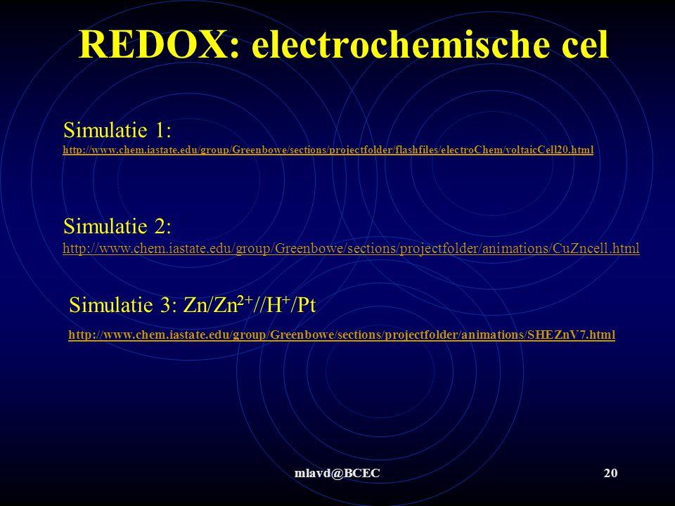 REDOX: electrochemische cel