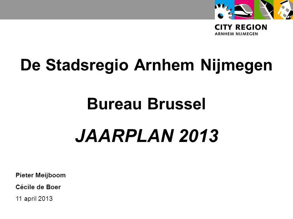 De Stadsregio Arnhem Nijmegen Bureau Brussel