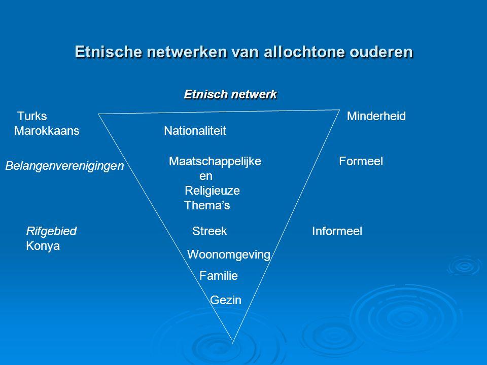 Etnische netwerken van allochtone ouderen