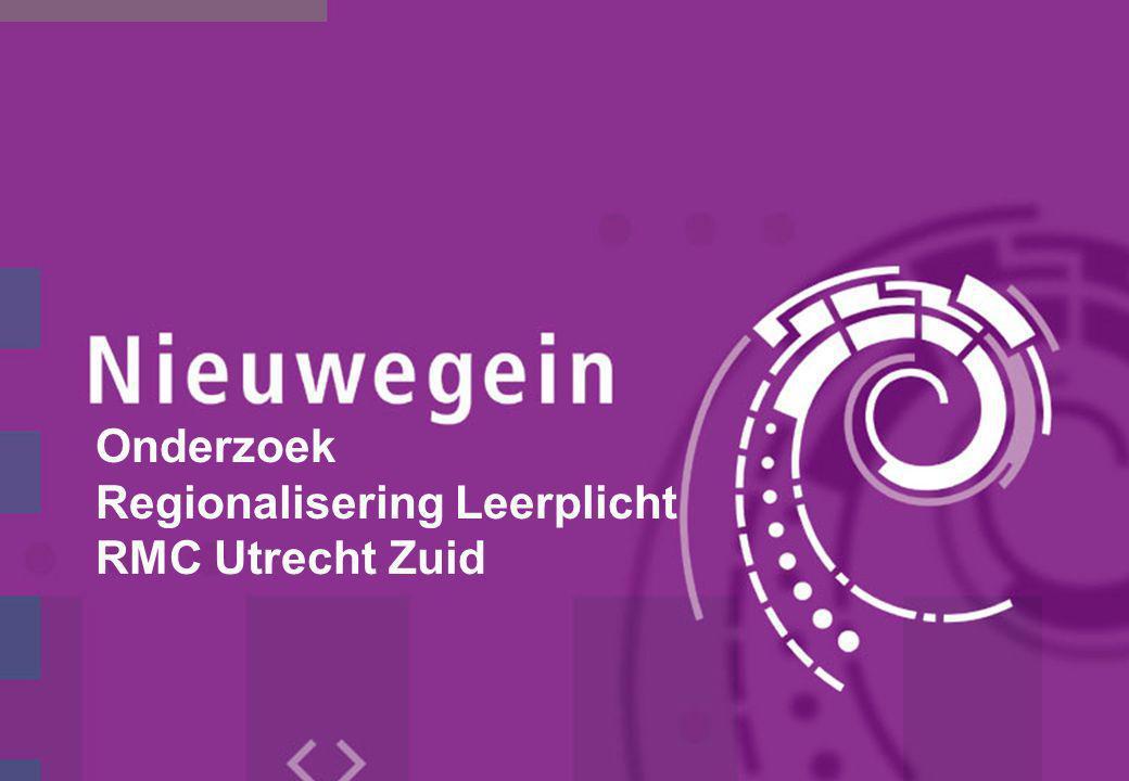 Onderzoek Regionalisering Leerplicht RMC Utrecht Zuid