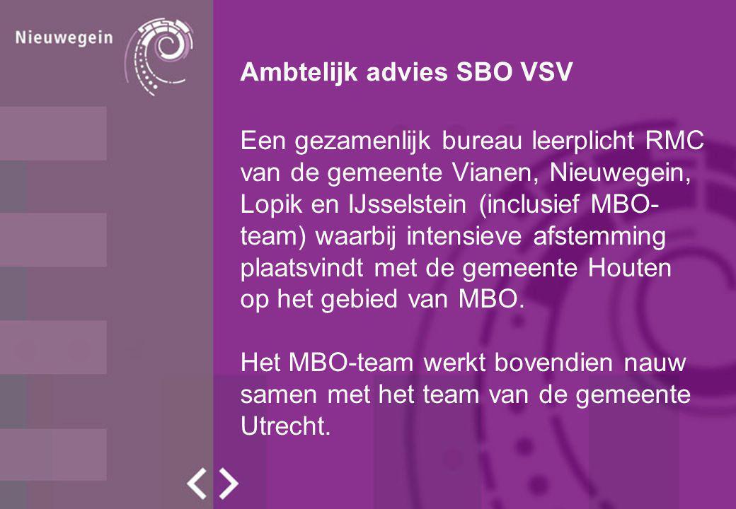 Ambtelijk advies SBO VSV